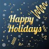 Fondo felice di feste con l'immagine di vettore dei fiocchi di neve illustrazione di stock