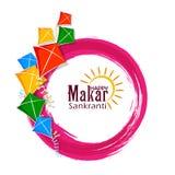 Fondo felice di festival dell'India di festa di Makar Sankranti illustrazione di stock