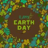 Fondo felice di giornata per la Terra Fotografie Stock