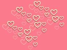 Fondo felice di giorno del ` s del biglietto di S. Valentino con i cuori Decorazione di festa Fotografie Stock Libere da Diritti