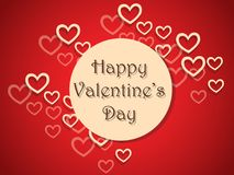 Fondo felice di giorno del ` s del biglietto di S. Valentino con i cuori Decorazione di festa Immagine Stock