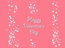 Fondo felice di giorno del ` s del biglietto di S. Valentino con i cuori Decorazione di festa Fotografia Stock Libera da Diritti