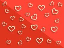 Fondo felice di giorno del ` s del biglietto di S. Valentino con i cuori Decorazione di festa Immagini Stock Libere da Diritti