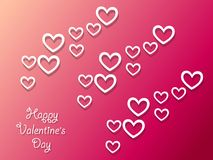 Fondo felice di giorno del ` s del biglietto di S. Valentino con i cuori Decorazione di festa Fotografia Stock