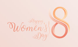 Fondo felice di giorno del ` s delle donne Immagine Stock