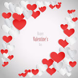 Fondo felice di giorno di biglietti di S. Valentino Fotografie Stock Libere da Diritti