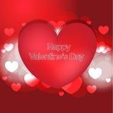 Fondo felice di giorno di biglietti di S. Valentino Fotografie Stock