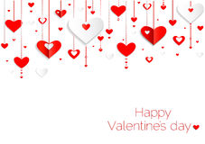 Fondo felice di giorno di biglietti di S. Valentino. Cuori senza cuciture p Fotografia Stock