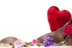 Fondo felice di giorno di biglietti di S. Valentino su bianco Immagini Stock Libere da Diritti