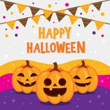Fondo felice di Halloween Immagini Stock