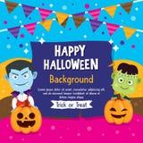 Fondo felice di Halloween Fotografia Stock Libera da Diritti