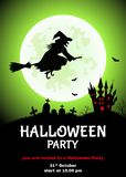 Fondo felice di Halloween per l'invito del partito o dell'aletta di filatoio Fotografia Stock