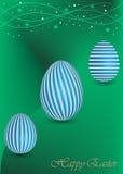 Fondo felice di Pasqua con un uovo verde Fotografia Stock Libera da Diritti