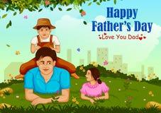 Fondo felice di saluto di giorno del ` s del padre royalty illustrazione gratis
