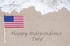 Fondo felice di U.S.A. di festa dell'indipendenza Fotografia Stock