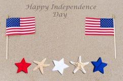 Fondo felice di U.S.A. di festa dell'indipendenza Fotografie Stock Libere da Diritti