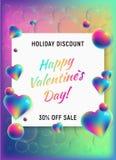 Fondo felice di verticale di giorno di biglietti di S. Valentino illustrazione di stock