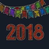 Fondo felice festivo 2018 Immagini Stock