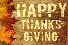 Fondo feliz de la acción de gracias Imagen de archivo libre de regalías