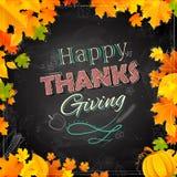 Fondo feliz de la acción de gracias con las hojas de arce stock de ilustración