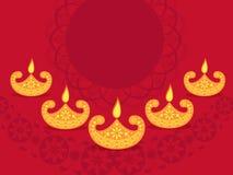 Fondo feliz de la celebración de Diwali Fotos de archivo