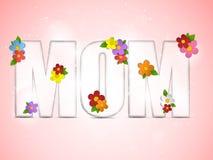 Fondo feliz de la flor del día de la madre stock de ilustración