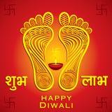 Fondo feliz de la tarjeta de felicitación del festival del diwali o del navratri Imagen de archivo