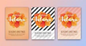 Fondo feliz de la tarjeta del ` s Greetins de Autumn Season Fotos de archivo