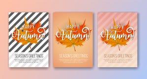Fondo feliz de la tarjeta del ` s Greetins de Autumn Season Foto de archivo