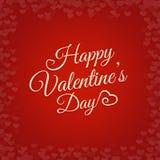 Fondo feliz de las letras del vintage del día de tarjetas del día de San Valentín Foto de archivo