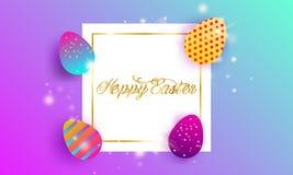 Fondo feliz de las letras de Pascua stock de ilustración