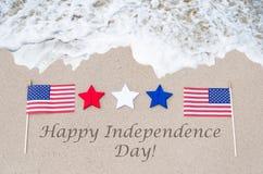 Fondo feliz de los E.E.U.U. del Día de la Independencia Fotografía de archivo libre de regalías
