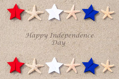 Fondo feliz de los E.E.U.U. del Día de la Independencia Imagen de archivo