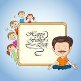 Fondo feliz de los saludos del día del ` s del padre libre illustration