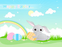 Fondo feliz de Pascua libre illustration