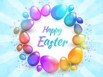 Fondo feliz de Pascua con los huevos de Pascua realistas Teléfono móvil amarillo libre illustration
