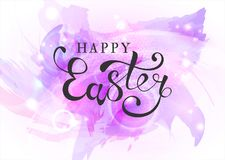 Fondo feliz de Pascua con los huevos de Pascua realistas Teléfono móvil amarillo stock de ilustración