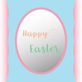 Fondo feliz de pascua de los huevos planos Foto de archivo