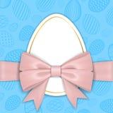 Fondo feliz de Pascua, huevos texturizados en colores pastel Marco del papel de la decoración del oro Saludo de la tarjeta de Pas ilustración del vector