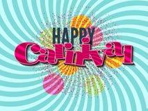 Fondo feliz del carnaval Imágenes de archivo libres de regalías