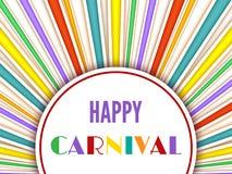 Fondo feliz del carnaval Imagen de archivo libre de regalías