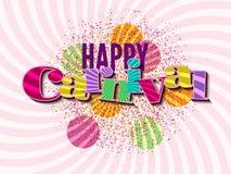 Fondo feliz del carnaval Fotos de archivo libres de regalías