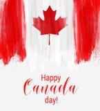 Fondo feliz del día de Canadá Foto de archivo libre de regalías