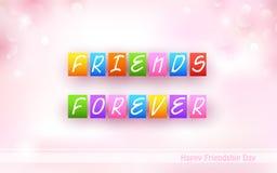 Fondo feliz del día de la amistad ilustración del vector