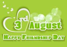 Fondo feliz del día de la amistad con el texto colorido Foto de archivo libre de regalías
