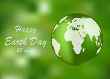 Fondo feliz del Día de la Tierra Ilustración del vector Foto de archivo