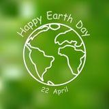Fondo feliz del Día de la Tierra Ilustración del vector Fotografía de archivo