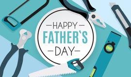 Fondo feliz del día de padres El mejor ejemplo del vector del papá Fotos de archivo libres de regalías