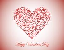 Fondo feliz del día de tarjetas del día de San Valentín Foto de archivo libre de regalías