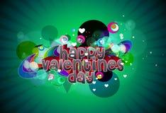 Fondo feliz del día de tarjetas del día de San Valentín Imagen de archivo libre de regalías
